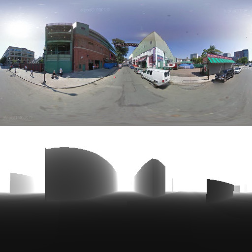Extract depth maps from Google Street View | 0xef